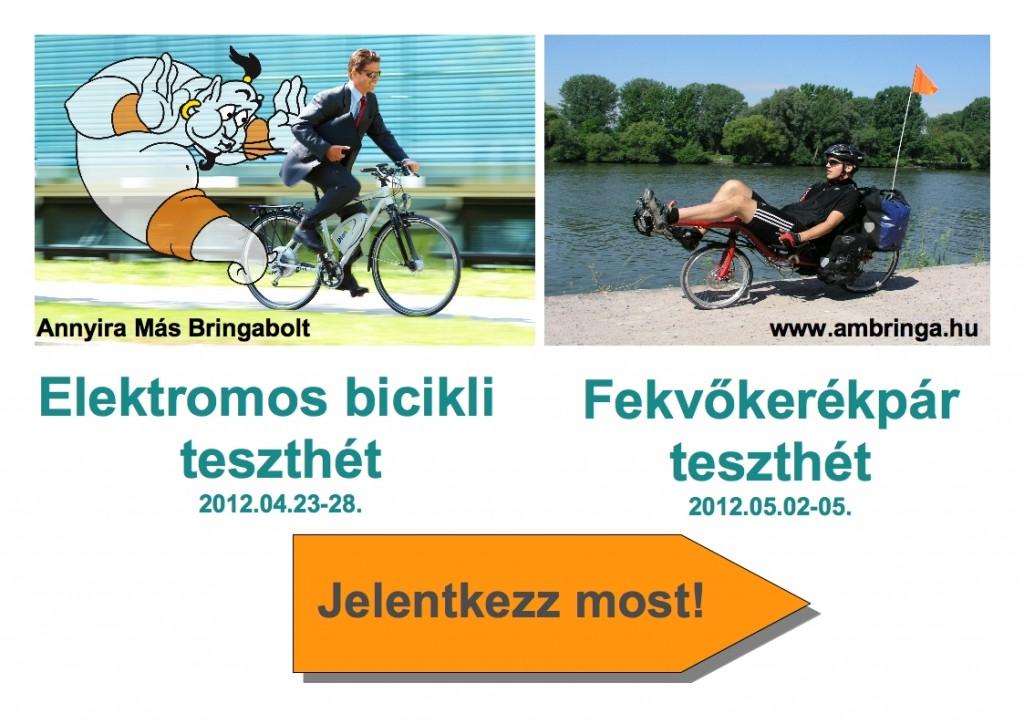 Elektromos kerékpárok és fekvőbringák tesztelése
